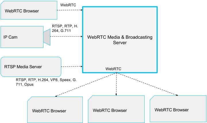 WebRTC Streaming Server For Live Broadcasting and Webinars