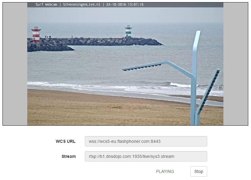 Testing RTSP-HTML5 player   Streaming Video WebRTC server