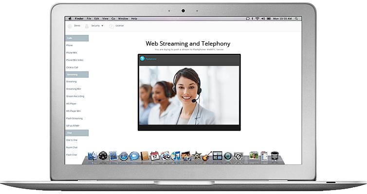IP camera streaming via RTSP for WebRTC and WebSocket