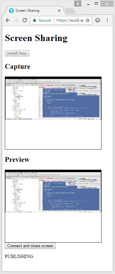 Screencasting in Chrome | Streaming Video WebRTC server and