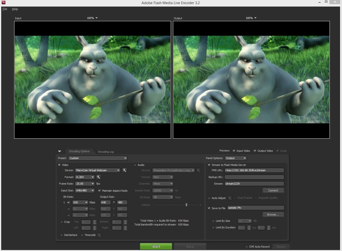 Stream RTMP video stream from the Live Encoder on WebRTC   Streaming