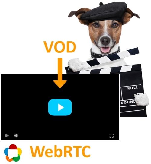 VOD on WebRTC