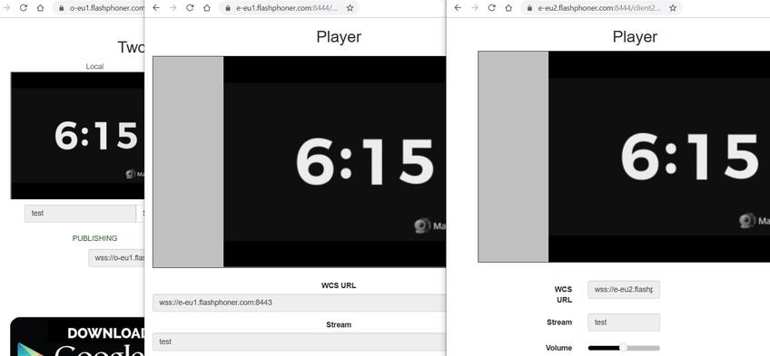 CDN low latency WebRTC cdn play 2edges