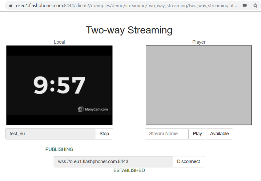 Dynamic CDN for Low Latency WebRTC Streaming Publish stream to EU Origin