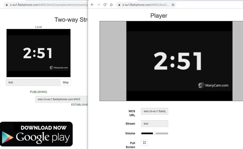 Dynamic CDN for Low Latency WebRTC Streaming Stream playing on Edge 1