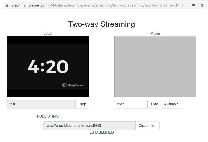 Dynamic CDN for Low Latency WebRTC Streaming Stream publishing on Origin