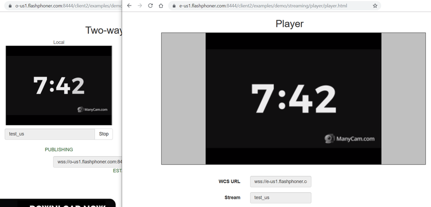 Dynamic CDN for Low Latency WebRTC Streaming Play stream from US Edge