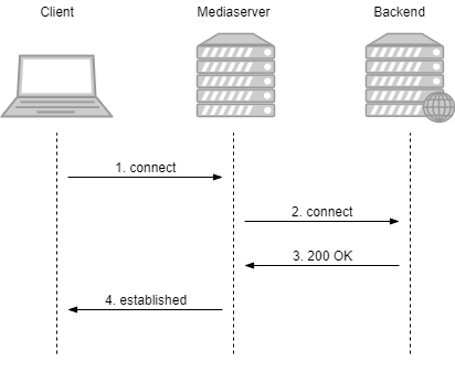 Dynamic CDN for Low Latency WebRTC Streaming with Stream Access Control Domain authentication on backend scheme
