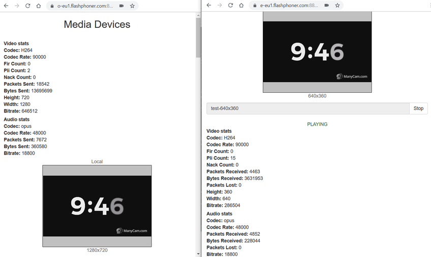 Dynamic CDN for Low Latency WebRTC Streaming with Transcoding Stream publishing and playback