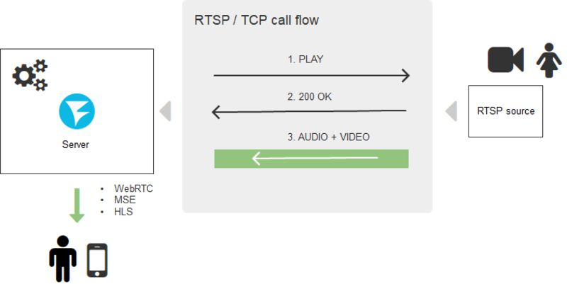 scheme_with_conversion_RTSP_browser_WebRTC_MSE_HLS