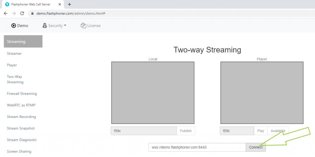 connect_stream_webcam_WebRTC_browser_WCS