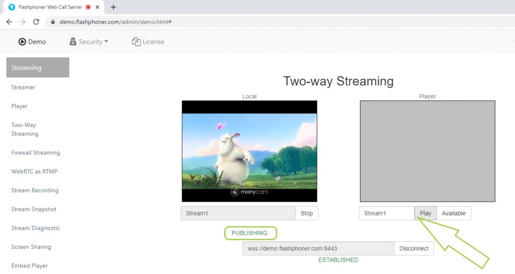 play_stream_webcam_WebRTC_browser_WCS