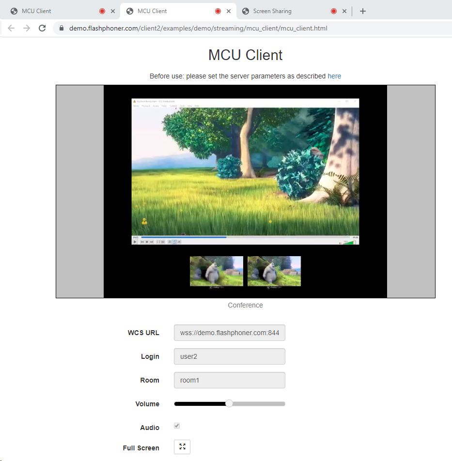 stream_with_screensharing_WCS_WebRTC_browser_conference_MCU_realtime_mixer