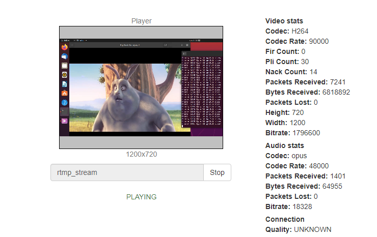 linux_play_stream_ffmpeg_screensharing_WebRTC_RTMP_WCS_bitrate_codec_framerate_video_audio_stream