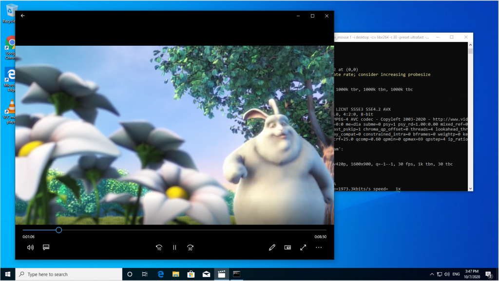 no-audio_windows_publish_stream_ffmpeg_screensharing_WebRTC_RTMP_WCS_bitrate_codec_framerate_video_audio_stream